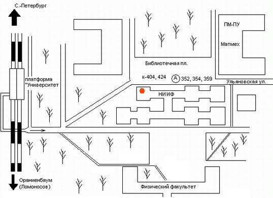 Схема расположения кафедры.